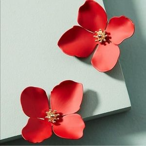 Anthropologie Garden Party Flower Earrings